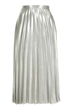 METALLIC pleat skirt. yes yes yes