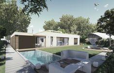 nedávno realizované projekty - Rodinné domy Home Fashion, Concrete, Mansions, House Styles, Outdoor Decor, Home Decor, House, Projects, Decoration Home