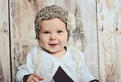 Newborn Photography Prop  Crochet Beanie with by BeansInaBucket, $28.50