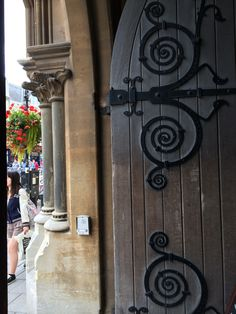 The door of Balliol College, oldest college at Oxford. You must pass through a gate house to enter most of the colleges.