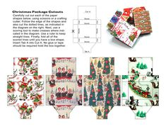 More from my old defunct site,Mistletoegreetings. These are tiny boxes with vintage style Christmas wrapping paper. Cut them out, put them together following the instructions, and let your creativity run wild. Use them as decorative accents on packages. Decorate a Christmas Doll house scene. Put candy in them and use them as stocking stuffers. Lot's …