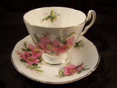 "Royal Adderley  ""Prairie Rose""Canadian Provincial Flower Series Cup and Saucer"