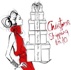 #Christmas by Megan Hess Illustration