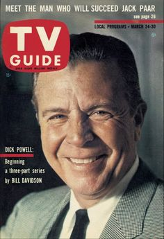 TV Guide  March 24-30, 1962  (Dick Powell)