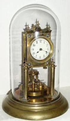 Skeleton Clock; Jahresuhrenfabrik, 400-Day, 11 inch.