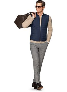 Blå Täckväst Bw116 | Suitsupply Online Store