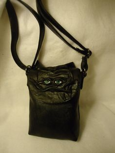 Leather Purse LARP Card Bag Goth Halloween Witch by pippenwycks, $35.00