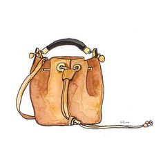 Check out this brown beauty of the new @chloe collection. ✨ Perfect for every day (or to sneak that bottle of vodka into that festival ) #freshlyframed #chloe #illustrationoftheday #chloeGIRLS #fashion #leatherbag #watercolour