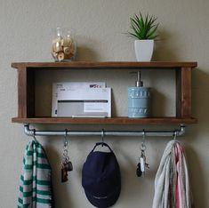 Industrial Modern Rustic Entryway Coat Rack Shelf w/ by KeoDecor