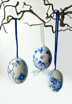Royal Copenhagen blue and white EASTER EGGS