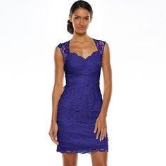 1 by 8 Lace Tier Sheath Dress ...