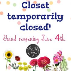 Temporarily closed!  Hello friends! My closet is closed temporarily as I am moving to a new apartment and my items for sale are packed away in boxes and I won't be able to access them until June 4th! I was going to delete my Posh and sell everything to a consignment shop, but I decided I'd miss Posh too much!  I'll still try my best to answer questions and I can always hold an item for you! Thanks for understanding! Dresses