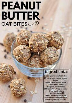 Peanut Butter Oat Bites!:)