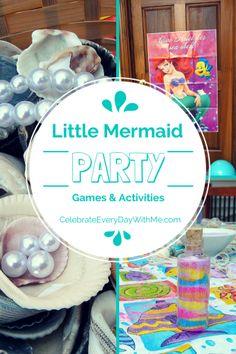 3 Fun & Creative Little Mermaid Party Games & Activities #littlemermaid #partygames