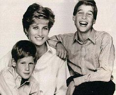 Pics of princess Di with Harry and William
