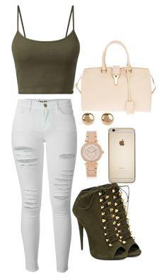 """""""Untitled #62"""" by michboo ❤ liked on Polyvore featuring Frame Denim, Giuseppe Zanotti, Michael Kors, Yves Saint Laurent and Jules Smith"""