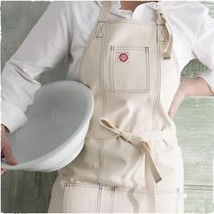 love the apron ~ from Raw Materials Design - Durable and affordable luxuries hand-made in the USA from domestically-sourced 100% cotton