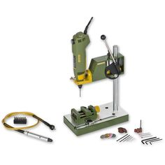 Package deal comprises the Proxxon FBS Precision Drill/Grinder Multi-Tool, Proxxon Flexi-Shaft, Proxxon MICROMOT MB Drill Stand and the Proxxon MS 4 Machine Vice. Proxxon FBS Precision Drill/Grinder Multi-Tool This multi-tool Precision Drilling, Innovation, Maker Shop, Military Modelling, Package Deal, Cnc Projects, Drill Press, Cnc Machine, Dremel