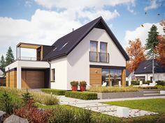 Projekt domu AC E13 G1 ENERGO PLUS - DOM AF7-32 - gotowy projekt domu Gable Roof, Design Case, Home Fashion, Interior And Exterior, Beautiful Homes, Teak, House Plans, New Homes, House Design