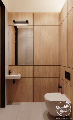 Gennady Shmidt on Behance Modern Grey Kitchen, Grey Kitchen Designs, Latest Bathroom Designs, Modern Bathroom Design, Small House Interior Design, House Design, Tan House, Minsk Belarus, Restroom Design