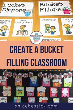 Creating a bucket filling classroom has everything you need to teach this unique concept. The blog post explains exactly how a first grade teacher teaches her students how to be bucket fillers. From a read aloud for Have You Filled a Bucket Today? to sorts, activities Teaching Character, Character Education, Creative Teaching, Teaching Tips, Bucket Filling Classroom, Bucket Filler Activities, Behavior System, Bucket Fillers, Interactive Read Aloud