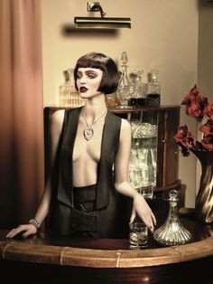 short #bob hair inspired by the #1920s