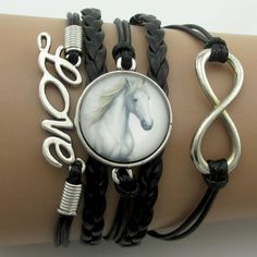 Love Horse Big Infinity Bracelets