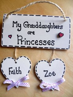 Grand parent/ granny/ nanny/ grandad / grandma FAMILY plaque/sign/ granddaughters/grandchildren/grandson  £5.50 plus £2.50 for each heart, any wording, unique, mothers day present, www.facebook.com/cosycottagesomerset