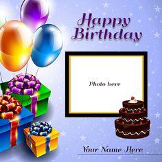 Birthday Wishes With Photo, Happy Birthday Mummy, Birthday Card With Name, Friends Birthday Cake, Birthday Wishes With Name, Happy Birthday Cake Pictures, Happy Birthday Wishes Cake, Birthday Photo Frame, Happy Birthday Frame