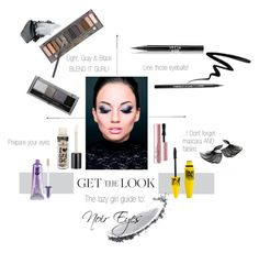 """Noir Eyes."" by beautycandle ❤ liked on Polyvore featuring beauty, Smashbox, Urban Decay, MAC Cosmetics, ULTA, Maybelline, Too Faced Cosmetics, Stila and NARS Cosmetics"