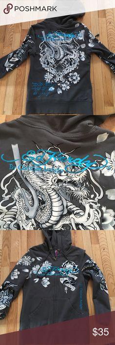 Ed Hardy Hoodie Never worn in perfect condition. Ed Hardy Tops Sweatshirts & Hoodies