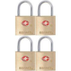7/8 in. (22 mm) Brass Keyed Lock (4-Pack), Bronze/Copper Metallic
