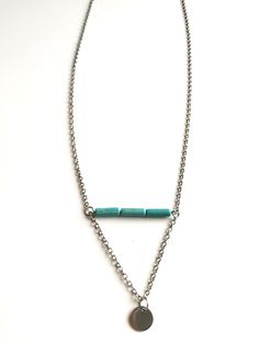 Turquoise personalized necklace