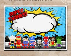 Superhero Banner Super Hero Birthday Banner by ClickParty on Etsy Superhero Room Decor, Superhero Class, Superhero Cupcake Toppers, Canvas Art Quotes, Cool Art Projects, Superhero Birthday Party, Thank You Note Cards, Birthday Party Decorations, Cute Stickers