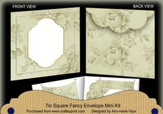 Cream Rose Plain Fancy 7x7inch Easy Envelope Mini Kit on Craftsuprint - Add To Basket!