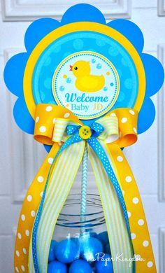 Rubber Ducky Centerpiece Rubber Duck Baby by thepaperkingdom