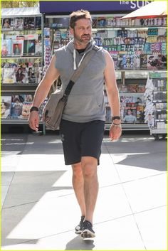 Gerard Butler Gets in SoulCycle Workout: Photo Gerard Butler shows off his arm muscles in a tank while heading out on Wednesday (October in West Hollywood, Calif. The actor headed to SoulCycle… Gerard Butler, Yoga Fitness, London Has Fallen, Paisley Scotland, Cardio Training, Pretty Men, Dressed To Kill, Workout, Looking Gorgeous