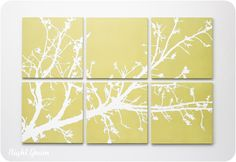 Branches in Bloom Original Painting in Custom Colors by RightGrain, $125.00
