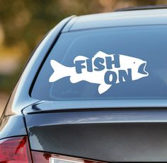 Keep Calm And Go Fishing  Car Window bumper laptop sticker Vinyl Decal Camping