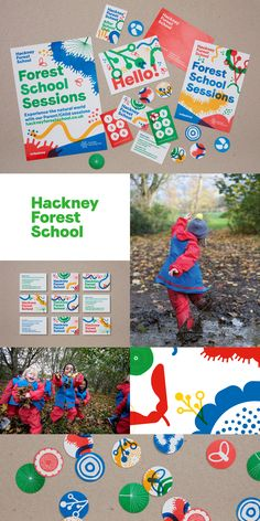 For many children, living in an urban area denies them easy access to the thrill of the outdoors. Hackney Council were acutely aware of this and set-up an exciting initiative called Forest School. With such a great scheme in place, Spy were tasked with generating a brand to increase awareness and uptake for children and adults across the borough. #SpyStudio #Branding #SchoolBranding #GraphicDesign #HackneyForestSchool #Illustration #LondonDesignStudio Retro Graphic Design, Graphic Design Layouts, Graphic Design Posters, Brochure Design, Graphic Design Inspiration, Brand Packaging, Packaging Design, Branding Design, Face Line Drawing