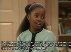 The Cosby show. You tell him girl!