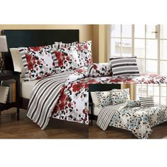 @Overstock - Give your bed a new lease of life with this pretty cotton quilt set. Featuring a 100 percent polyester cover and a cotton fill, it promises warmth and durability. This six-piece sets floral pattern will complement your existing furnishings nicely.http://www.overstock.com/Bedding-Bath/Astor-6-Piece-Quilt-Set/6782901/product.html?CID=214117 $54.99