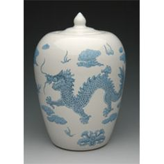 Chinese Dragon Funeral Urn