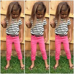 Ideas For Baby Girl Cute Outfits Fashion Kids Little Girl Outfits, Little Girl Fashion, My Little Girl, My Baby Girl, Toddler Fashion, Little Princess, Kids Fashion, Fashion Games, Kids Outfits Girls