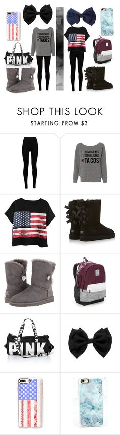 """""""IDK Left or Right"""" by sparklestache on Polyvore featuring Wolford, Chicnova Fashion, UGG Australia, Victoria's Secret and Casetify"""