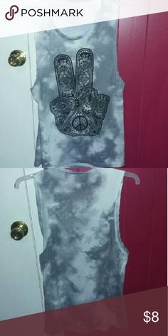 Tank top Peace sign tank top very soft and in perfect condition Tops