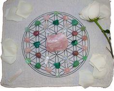 - 1 Huge Rose Quartz Piece - 4 Aventurine Pieces - 4 Clear Quartz Points - 4 Rhondonite Pieces - 6 Fluorite Pieces - 4 Malachite Pieces - 8 Rose Quartz Pieces - 1 Selenite Wand
