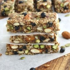 Fully Loaded Apple Blueberry Protein Bars ~ (raw, vegan, gluten free, refined sugar free)