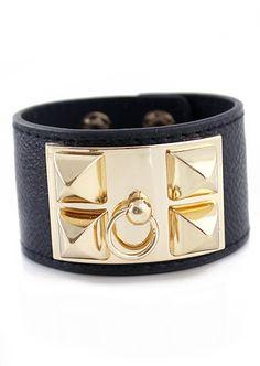 Christmas Gift Ideas. Secret Santa Ideas / Stocking Stuffers. Black Leather and Gold Bracelet. $7