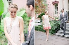 braided hair crown and pink sheath dress   Photo by Jeremy Harwell